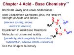 Br ø nsted-Lowry and Lewis Acids/Bases