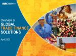 Overview of GLOBAL TRADE FINANCE SOLUTIONS April 2009