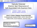 Optically-Detected Electron Spin Resonance of Self-Assembled InAs Quantum Dots