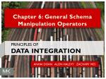 Chapter 6: General Schema Manipulation Operators
