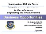 Air Force Center for  Engineering and the Environment