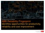 ABB Reliability Fingerprint