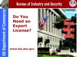 Do You Need an Export License?