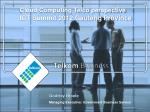 Cloud Computing Telco perspective ICT Summit 2012 Gauteng Province
