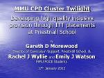 By Gareth D Morewood  Director of Curriculum Support, Priestnall School, &