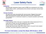 Laser Safety Facts