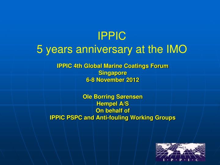 ippic 5 years anniversary at the imo n.