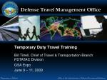 Temporary Duty Travel Training