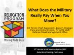 What Does the Military Really Pay When You Move?