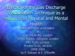 Efficacy of the Gas Discharge Visualisation Technique as a measure of Physical and Mental Health