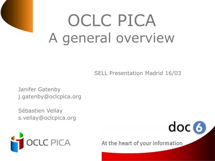 oclc pica a general overview n.