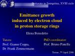 Emittance growth induced by electron cloud in proton storage rings