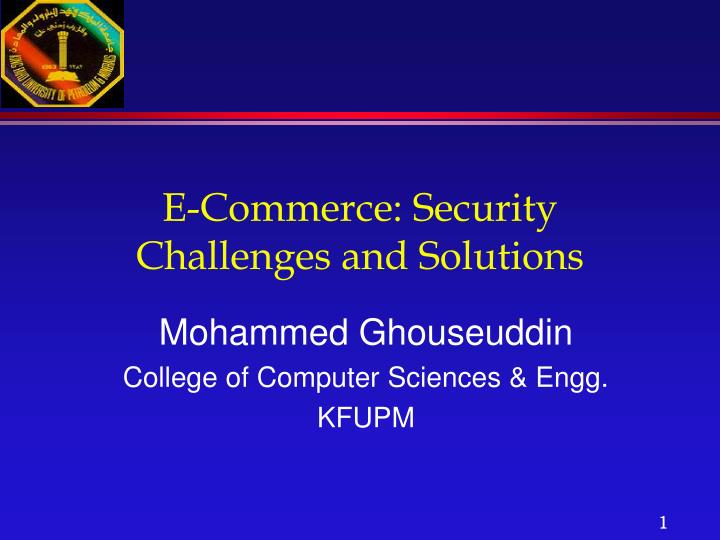 e commerce security challenges and solutions n.