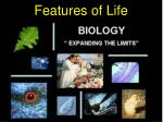 Features of Life
