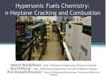 Hypersonic Fuels Chemistry: n-Heptane Cracking and Combustion