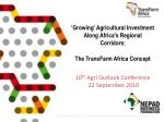 Africa's agriculture challenges  and potential