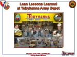 Lean Lessons Learned at Tobyhanna Army Depot