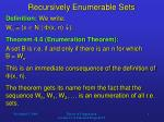 Recursively Enumerable Sets
