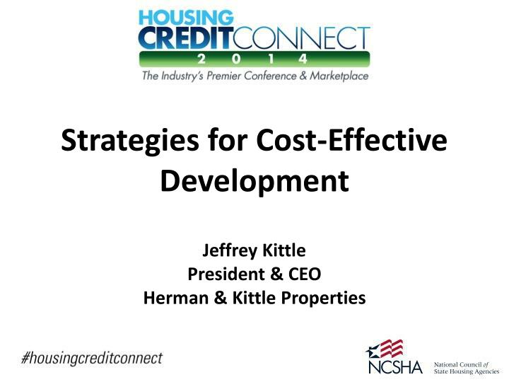strategies for cost effective development n.
