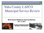Yuba County LAFCO  Municipal Service Review