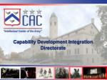 Capability Development Integration Directorate