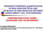 COMPARATIVE STUDY USING KLEIHAUER TEST AS REFERENCE