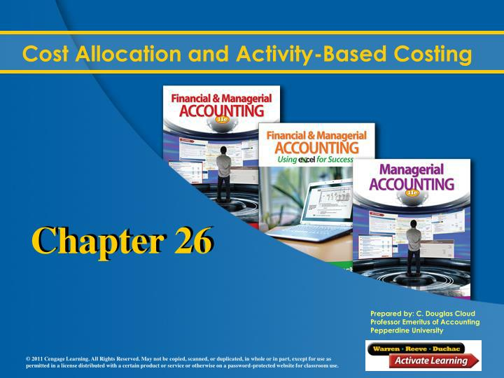 cost allocation and activity based costing n.