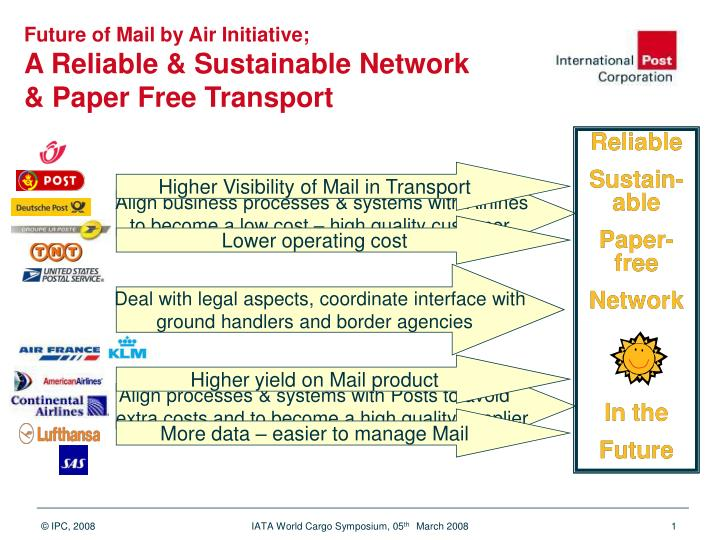PPT - Future of Mail by Air Initiative