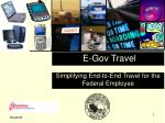 E-Gov Travel