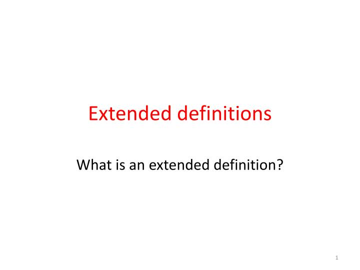 extended definitions n.