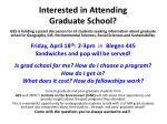 Interested in Attending  Graduate School?