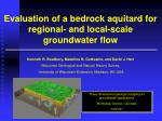 Evaluation of a bedrock aquitard for regional- and local-scale groundwater flow