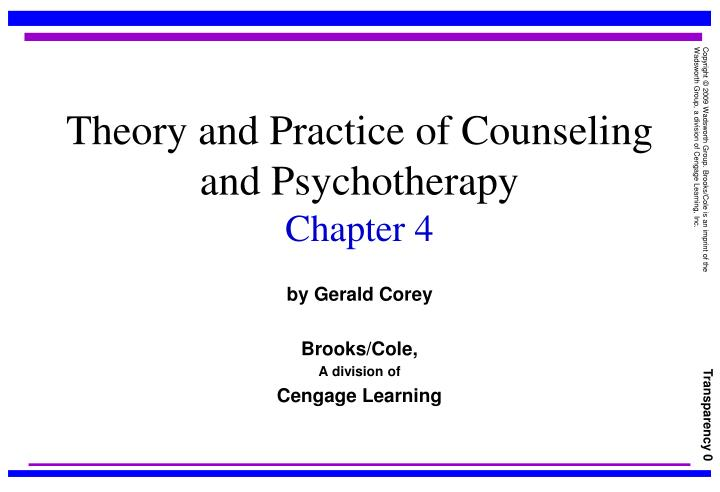 theory and practice of counseling and psychotherapy chapter 4 n.