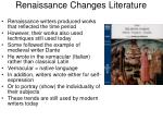 Renaissance Changes Literature