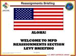Reassignments Briefing