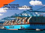 APM Terminals Lifting Côte d'Ivoire's trade