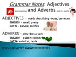 Grammar Notes : Adjectives ( parvus porcus ) and Adverbs ( pulchra puella )