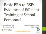Basic FBA to BSP: Evidence of Efficient Training of School Personnel