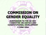 COMMISSION ON GENDER EQUALITY