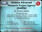 Defense Advanced Research Project Agency (DARPA)