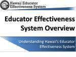 Educator Effectiveness System Overview