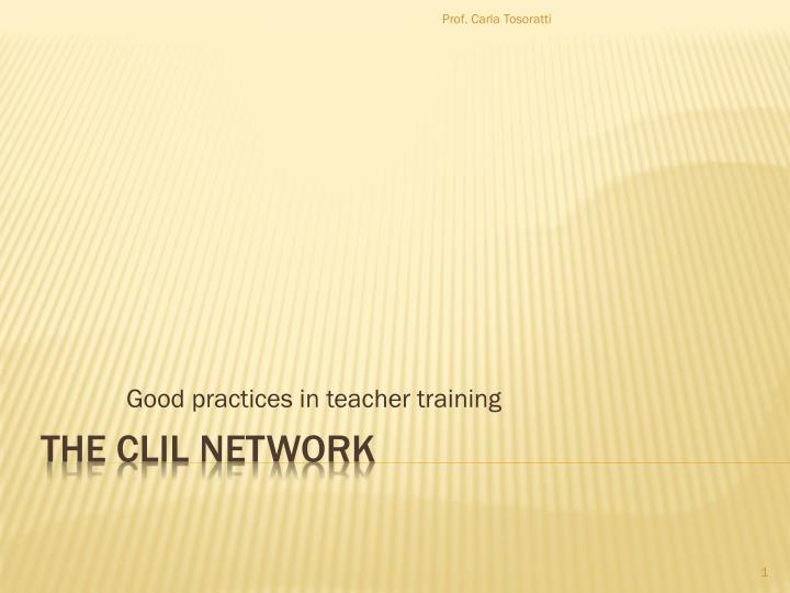 good practices in teacher training n.
