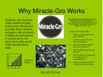 Why Miracle-Gro Works