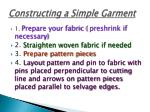 Constructing a Simple Garment