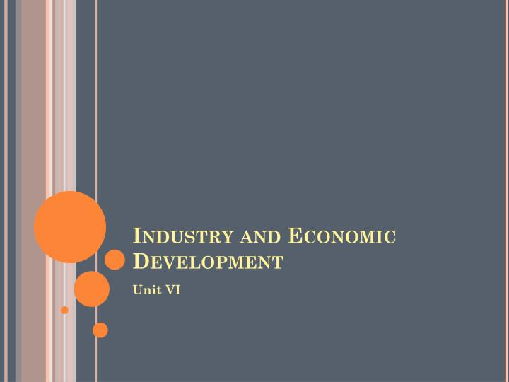 industry and economic development n.