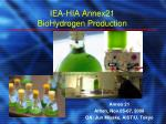 IEA-HIA Annex21 BioHydrogen Production