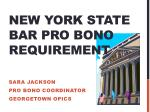 New York state Bar Pro Bono requirement