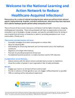 Welcome to the National Learning and Action Network to Reduce  Healthcare-Acquired Infections!