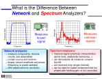 What is the Difference Between  Network  and  Spectrum  Analyzers?