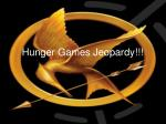 Hunger Games Jeopardy!!!